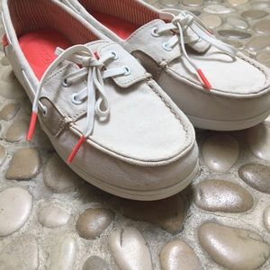 Size 9 Sperry Tan & Orange Top Sider Shore Shoes